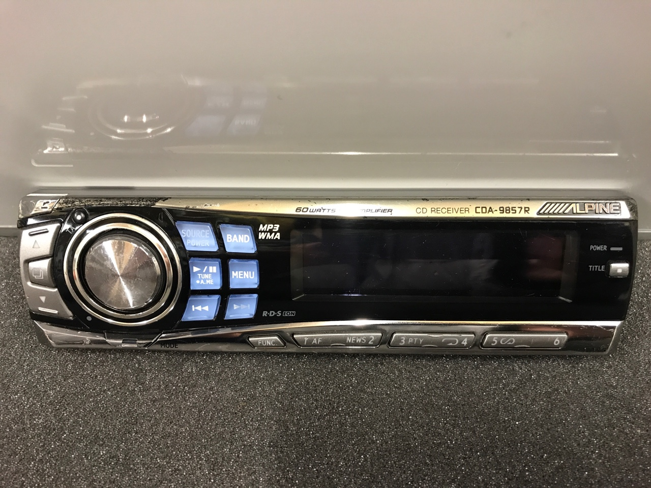 Alpine Cda-9857r front panel only