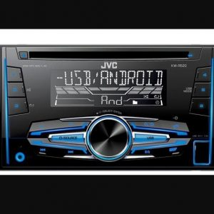 JVC KW-R520 Double DIN Car Radio Stereo CD MP3 USB Aux In New Audio