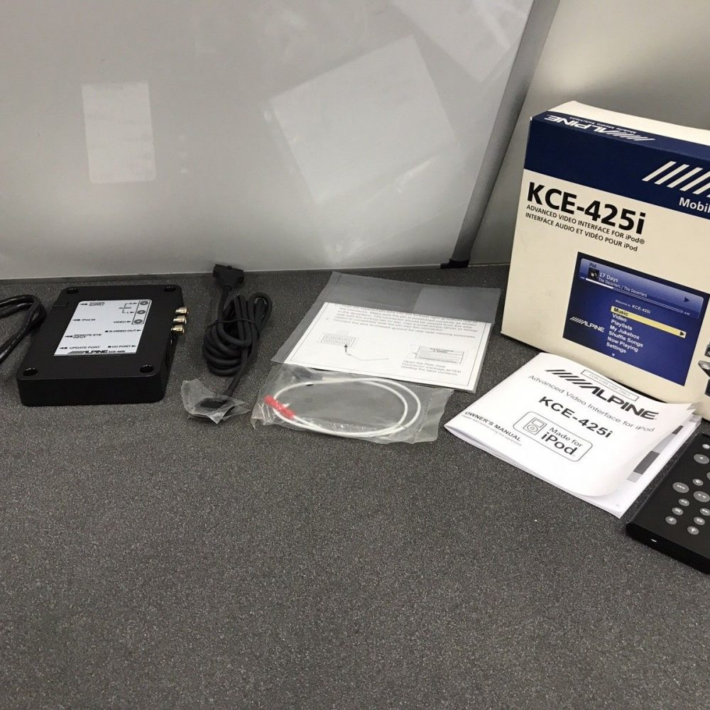Alpine KCE-425i iPod Advanced Video Interface Adapter Kit Set Unused Stock