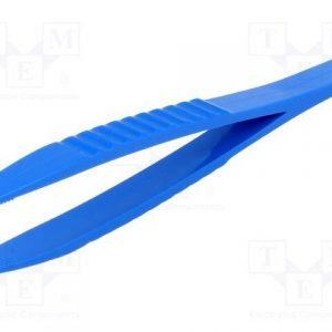 Straight Blade 125mm Abs Plastic Non Marking Tweezers