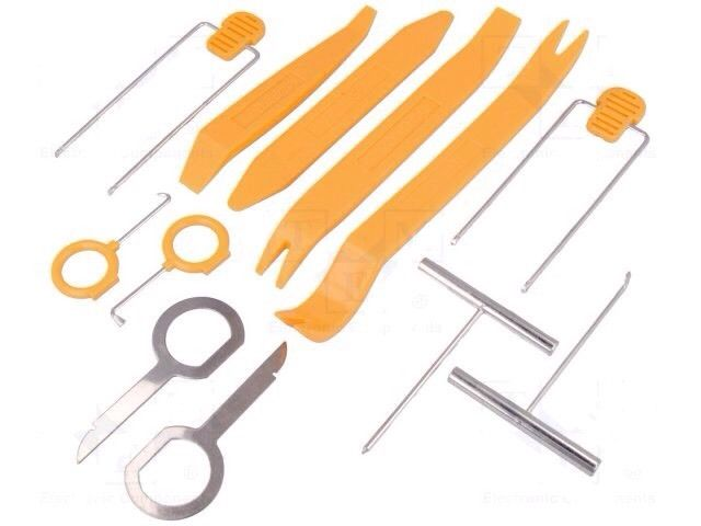 Professional Car Radio Stereo Removal Pins Kit Tools Keys Set Pullers Levers