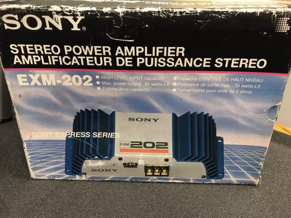 Sony Old Classic Vintage Car Add On Amp Amplifier Boxed New Old Stock Exm-202