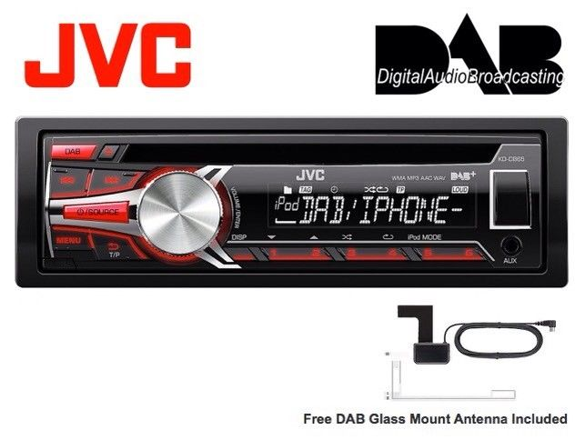 Jvc Kd-Db65 Dab Digital Car Radio Stereo Head Unit CD MP3 USB Aux In + Antenna