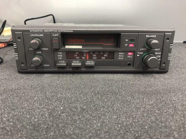 Old Classic Gpodmans Car Radio Cassette Player Model Gce270 Grey 1990s