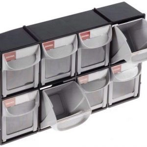 Set Of 8 Storage Drawers In Cabinet Ideal Crafts Garage Shed Small Parts bits