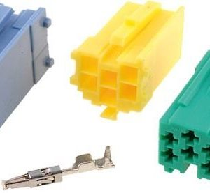 Vw Renault Blaupunkt Becker Etc Iso Mini Blue Plug Set Connector with wire pins