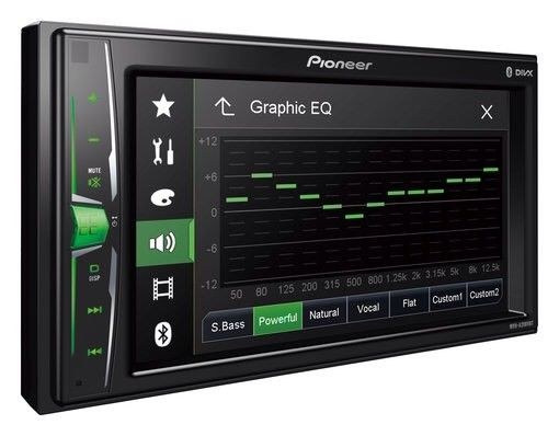 Pioneer Mvh-A200vbt Car Radio Stereo Mp3 Usb Aux In Bluetooth Double Din Rev Cam