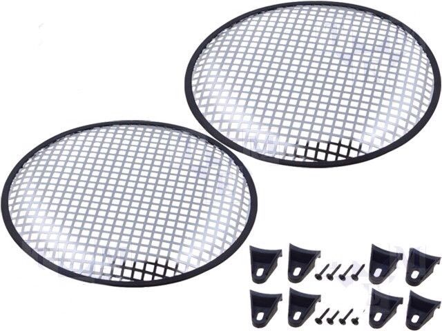 Car Sub Subwoofer speaker Covers New Metal Mesh Covers In Silver 15 Inch 375mm