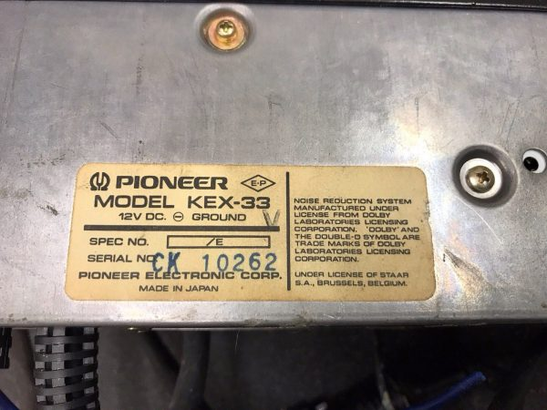 Old Classic Pioneer 80s Radio Cassette Player Kex-33 With Gm-4 Amp Amplifier