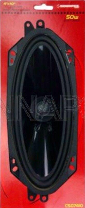 Car Radio Stereo Speakers 4 X 10 Inch Oval 230x90mm 50 Watts Dashboard Speakers