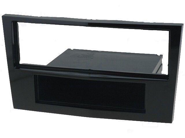 Vauxhall Astra Corsa Piano Black Single Din Facia Trim Adaptor Plate 2004-2010