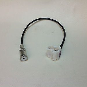Antenna Aerial adapter ISO Fakra  Audi  RNS-E - Straight connector White fakra