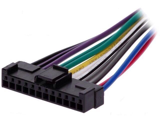 Pioneer Deh Keh Car Radio Stereo Black  12 Pin Wiring Harness Loom Connector
