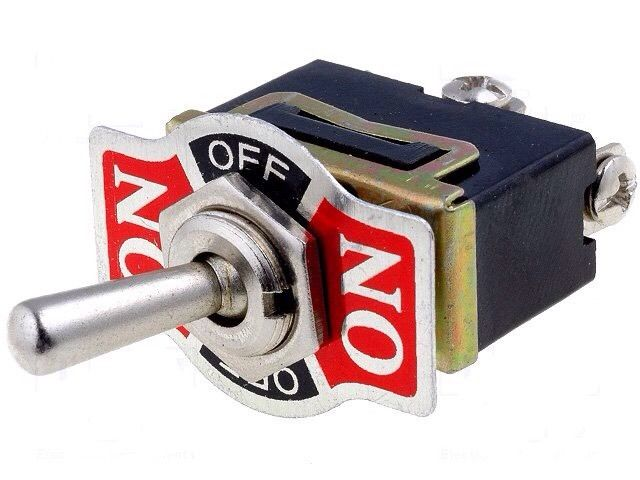 Car Van Caravan Lorry Switch toggle SP3T ON-OFF-ON 10A/250VAC -55 To 65°C 3 way