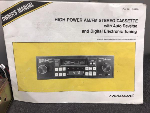 Old Classic Vintage Realistic Car Radio Stereo Cassette Player Car Caravan Etc