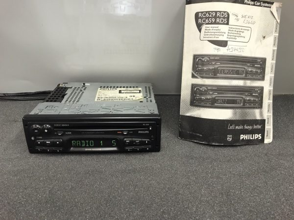 Old Philips Car Radio Stereo Cd Player Model Rc659 With Manual 22rc659