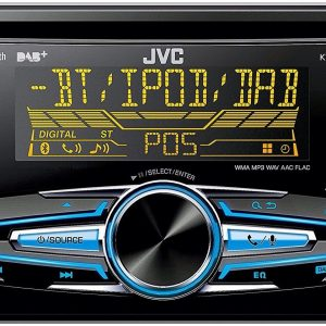 JVC Kw-Db92bt Double DIN Car Stereo Dab Radio Bluetooth CD MP3 USB Aux In New