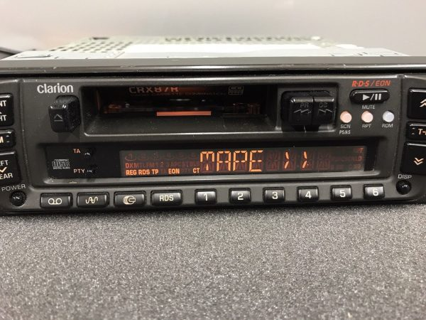 Clarion Crx87r Old Classic Vintage Radio Cassette Player Cd Changer Control