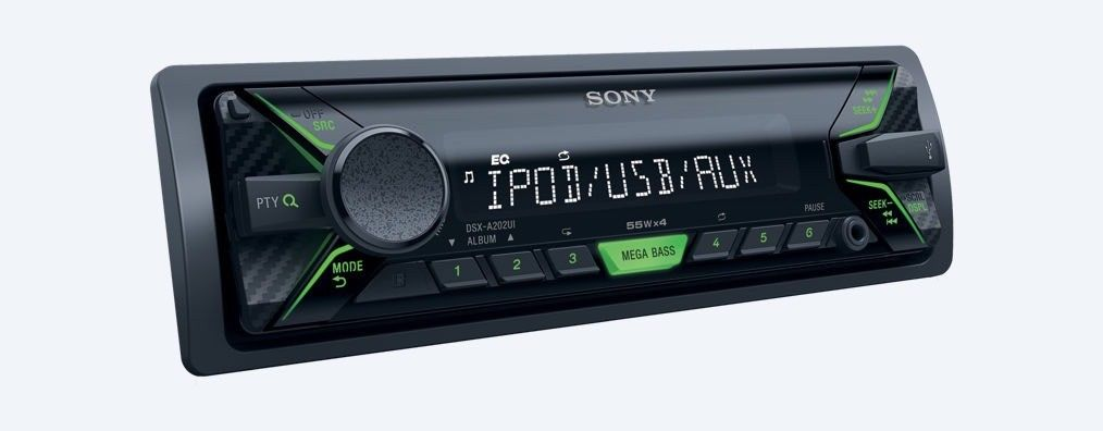 Sony Dsx-A202ui Car Radio Stereo Mp3 Usb Aux In Media Player New 55x4 Watts
