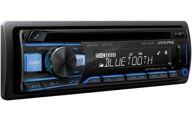 Alpine Cde-203bt Bluetooth car stereo RDS tuner USB Aux-In Supports Android