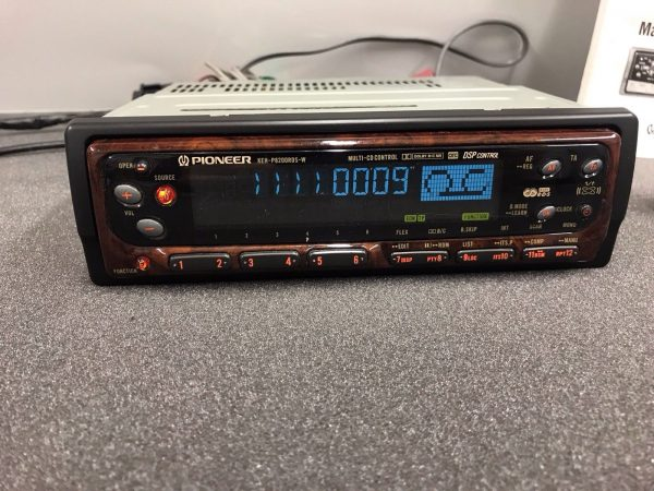 Pioneer Keh-P8200rds-w Old Classic Vintage Radio Cassette Player Rare Wood Model