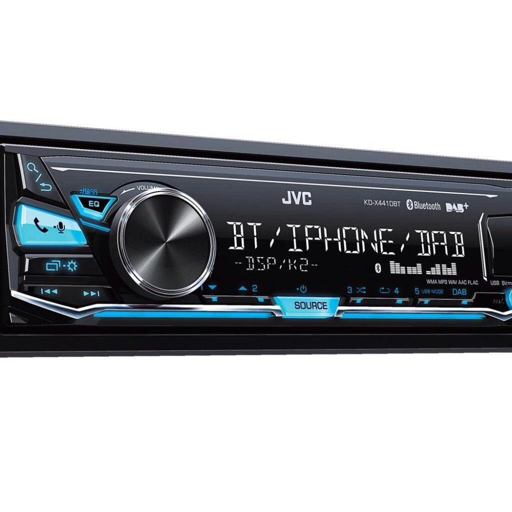 Jvc Kd-X441dbt Dab Car Radio Stereo Mp3 Usb Aux In Player 2017 Model Bluetooth
