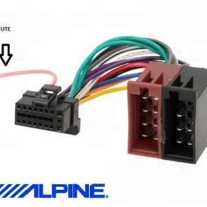 Alpine Cda-9851r cda9851r power connector wiring harness iso loom car radio