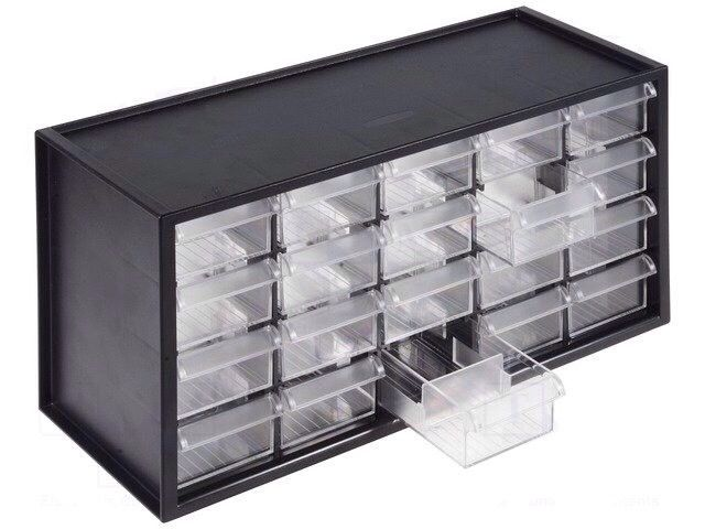 Set Of 20 Storage Drawers In Cabinet Ideal For Crafts Garage Shed Small Parts