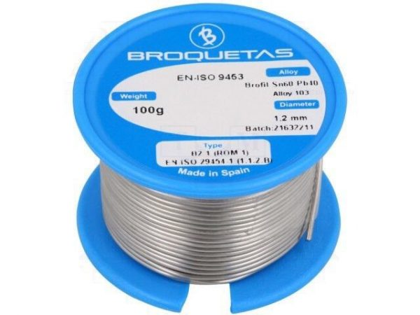 Solder Soldering Fluxed 1.2mm Soft Solder 100g Reel Roll New Good Quality