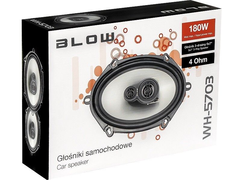 Car Radio Stereo Speakers 5 X 7 Inch Ford Fitting Etc 180 Watts 3 Way + Covers