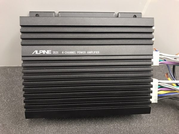 Alpine 3531 Old Classic Vintage Car Add On Amp Amplifier 4 Channel Small Amp