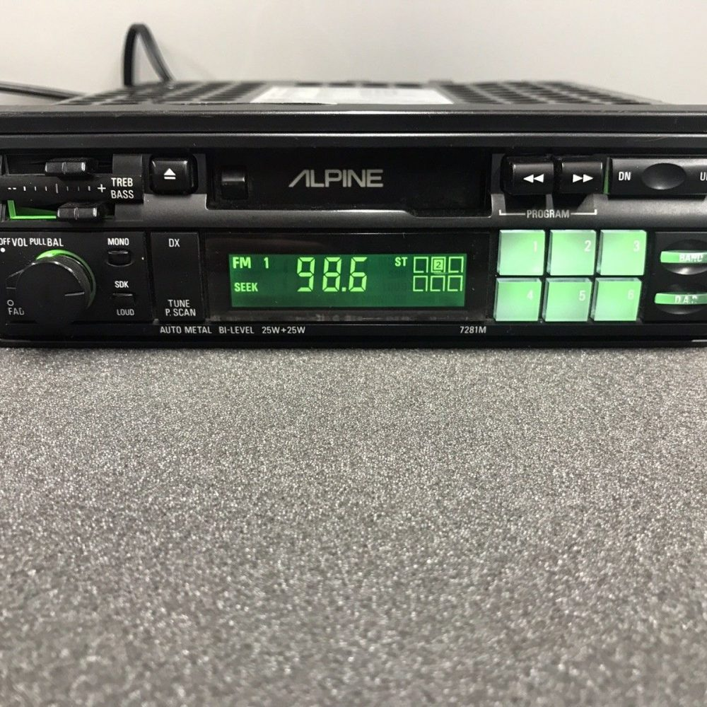Alpine Old Classic Vintage Car Radio Stereo Cassette Player 7281m Pull Out