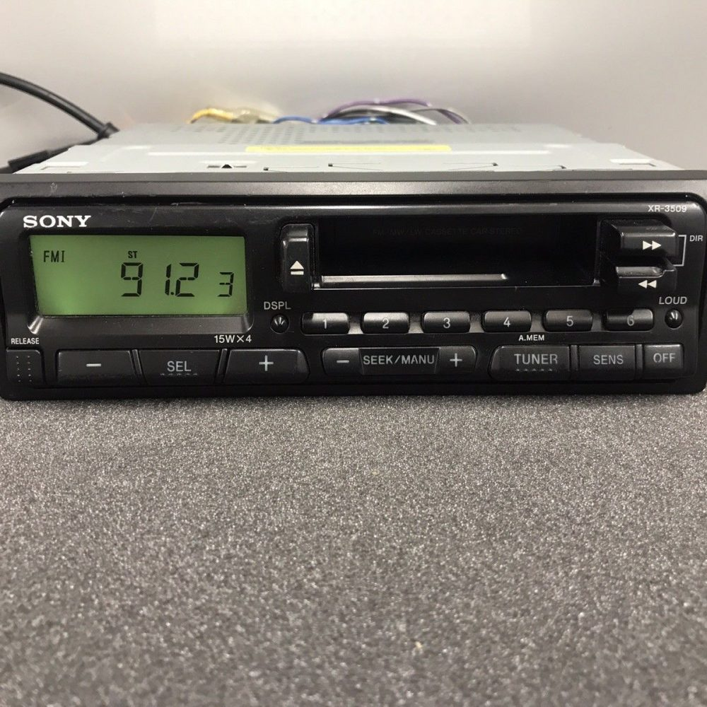 Sony 1990s Old Classic Vintage Retro Radio Cassette Player Model Xr-3509