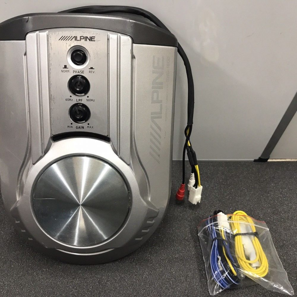Alpine Swd-1600 Powered Sub Subwoofer Under Seat Bass Woofer With New Harness