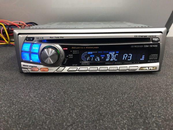 Alpine Car Radio Stereo Cd Player Model Cdm-7874rb Retro 00's Vintage Aux In