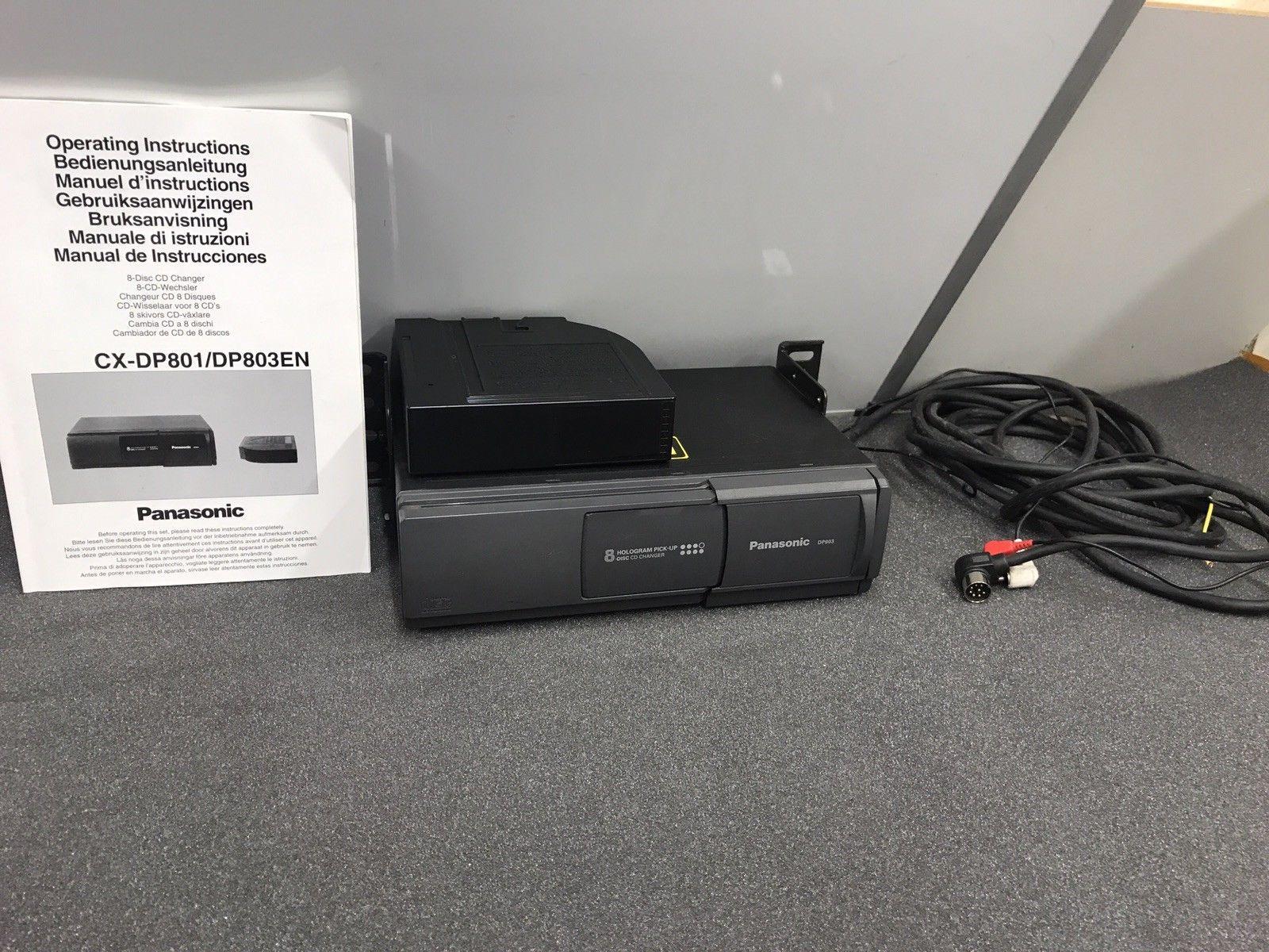 Panasonic 8 Pin Car Radio Stereo 8 Disc Plug In Cd Changer Model Dp803 Complete
