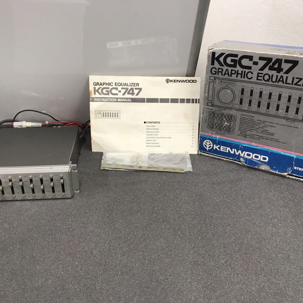 Old Classic Kenwood Trio 90s Graphic Equaliser Booster 7 Band Amplifier Kgc-747