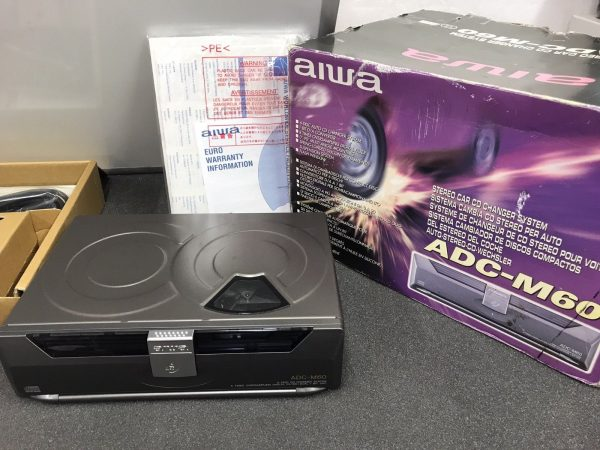 Aiwa Adc-M60 Car Radio Stereo 6 Disc Plug In Cd Changer Boxed And Complete