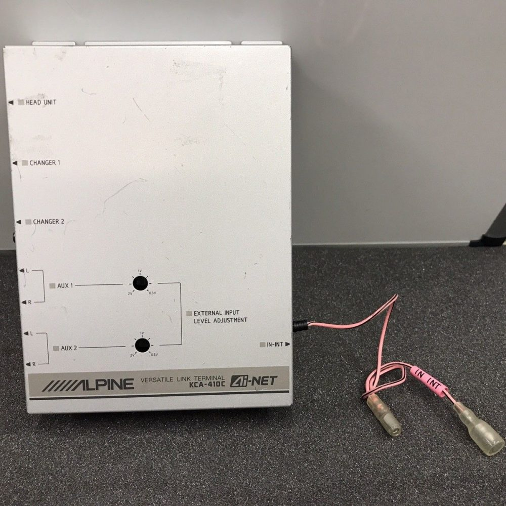 Alpine Kca-410c Versatile Link Terminal Dual Aux Dual Changer Control Adaptor