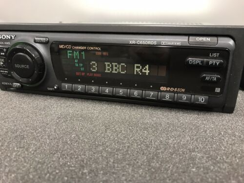 Sony Xr-C650rds Old Classic Vintage Radio Cassette Player Cd Changer Control
