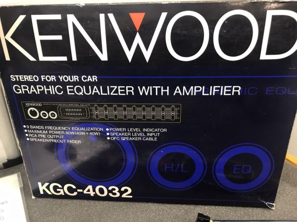 Old Classic Kenwood 90s Graphic Equaliser Booster 9 Band Amplifier Kgc-4032