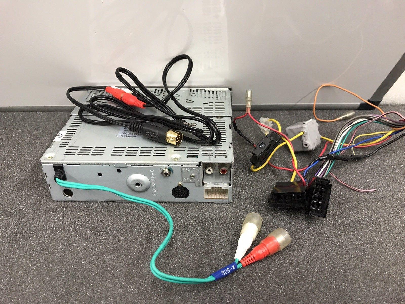 Alpine Car Radio Stereo Cd Player Model Cdm-7874rb Retro With Rear Aux In Lead