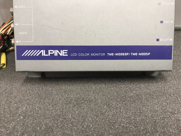Alpine Hide Away Brain Control Box Unit Lcd Colour Monitor Tme-M006sp Tme-M005p