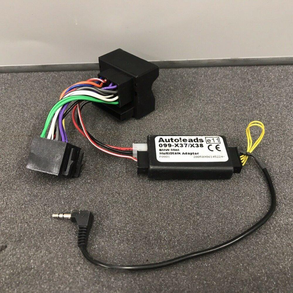Bmw Mini Car Radio Stereo Steering Wheel Adaptor Lead Harness Loom wire 099-x37