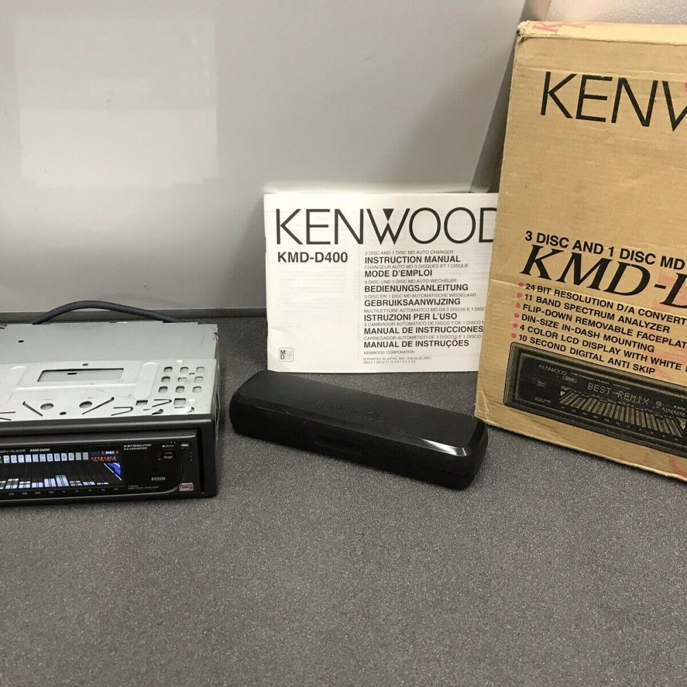 Very Rare Old Kenwood 3+1 Mini-disc Player Graphic Equaliser Boxed Kmd-D400