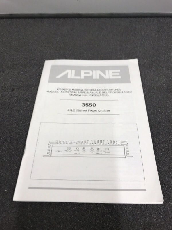 Alpine 3550 Old Classic Vintage Car Add On Amp Amplifier 4 / 3 /2 Channel Duo B