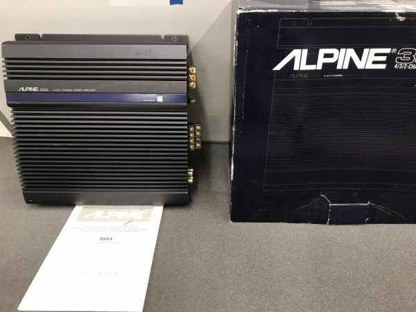 Alpine 3553 Old Classic Vintage Car Add On Amp Amplifier 4 / 3 /2 Channel Boxed