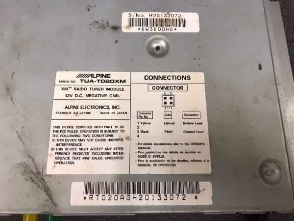 Alpine Xm Radio Tuner Module Tua-T020xm Satellite Module American Market USA